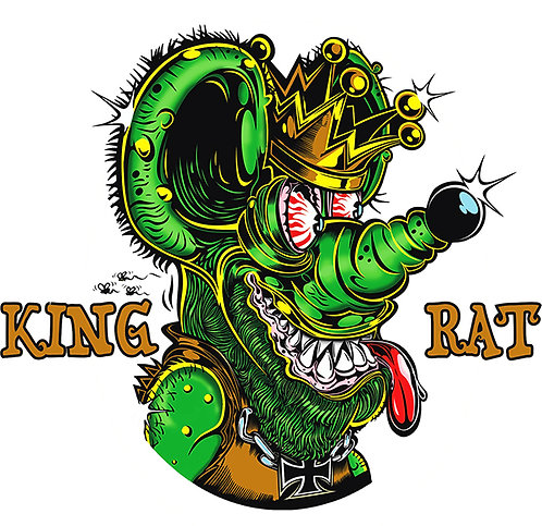 Rat's Hole King Rat Sticker