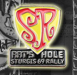 Sturgis 69 Rally Rat's Hole Show pin.