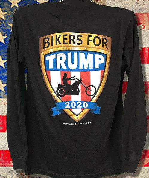 2020 Bikers for Trump Long Sleeve Tee