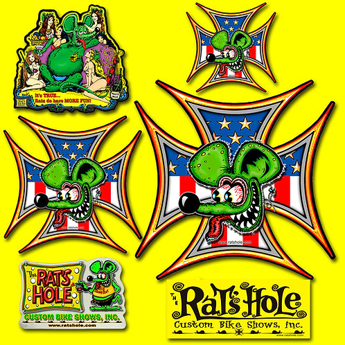 Rat Pack Collector Rats Hole 6 pack Stickers