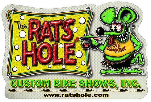 "Rat's Hole Banner Logo 3 1/2"" x 5 1/2"""