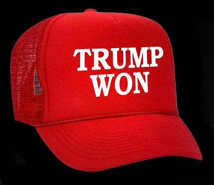 TRUMP WON Truckers Cap