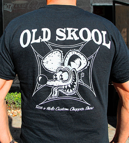 Rat-6 Old Skool Black Tee