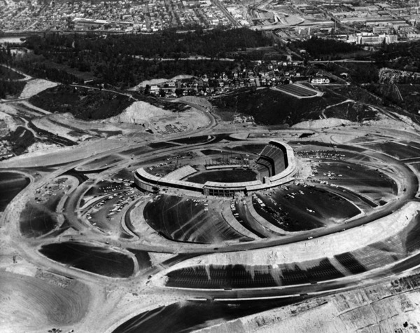 dodger stadium nearly completed 1962 lap