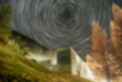Zumthor-Therme Vals Startrail. Photograph: Marks Casutt