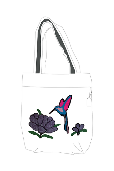 Hand Embroidered Bag with Bird  Design
