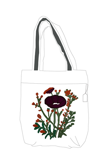 Hand Embroidered Bag with Flower Design