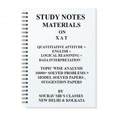 Study Notes Material On XAT