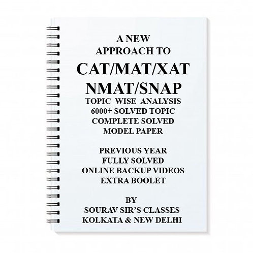 A NEW APPROACH TO CAT/MAT/XAT/NMAT/CMAT/IIFT/SNAP [ PACK OF 5 BOOKS ] STUDY NOTE