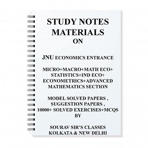 Study Notes Material On Economics Entrance Exam For JNU JAWAHARLAL NEHRU UNIVERS