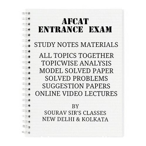 AFCAT ENTARNCE EXAMINATION COMPLETE STUDY MATERIALS