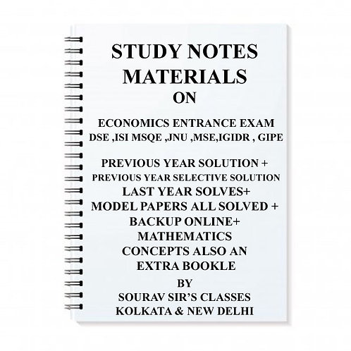 Study Material For Economics Entrance Exam For Dse ,ISI Msqe ,Jnu ,Mse,IGIDR