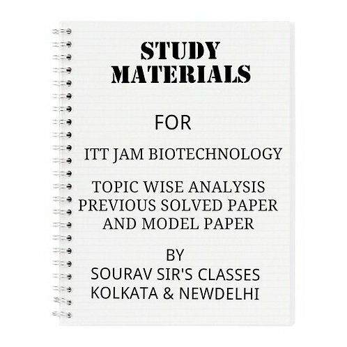 STUDY MATERIAL FOR IIT JAM BIOTECHNOLOGY (PACK OF 5 BOOKS)