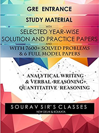GRE COMPLETE STUDY MATERIALS ( PACK OF 4 BOOKS) WITH 7600+ SOLVED PROBLEMS WITH