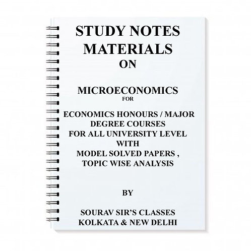 Study Notes Materials On Microeconomics