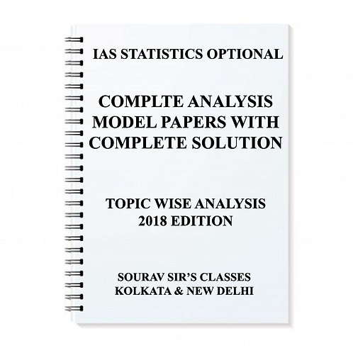STUDY MATERIAL FOR IAS STATISTICS OPTIONAL ( PACK OF 5 BOOKS )