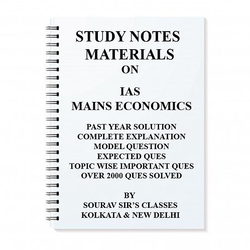 IAS MAINS ECONOMICS OPTIONAL 2018-2019 PAST YEARS SOLUTION WITH COMPLETE EXPLANA