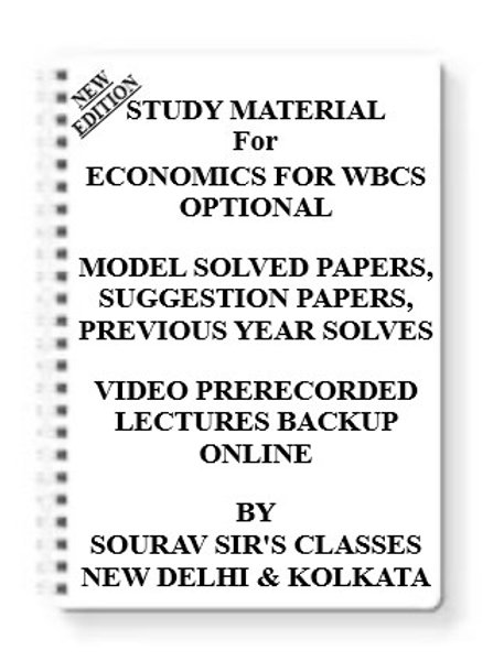 ECONOMICS FOR WBCS OPTIONAL Study Material + MODEL SOLVED PAPERS+SUGGESTION PAPE
