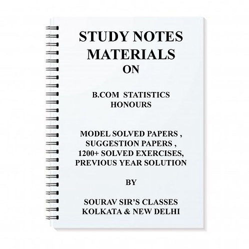 Study Material Notes On B.com Statistics Honours