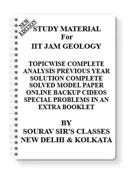 IIT JAM GEOLOGY Study Material +MODEL SOLVED PAPERS+SUGGESTION PAPERS+PREVIOUS Y