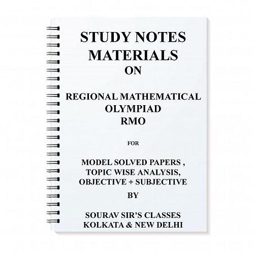 Regional Mathematical Olympiad RMO Study Materials