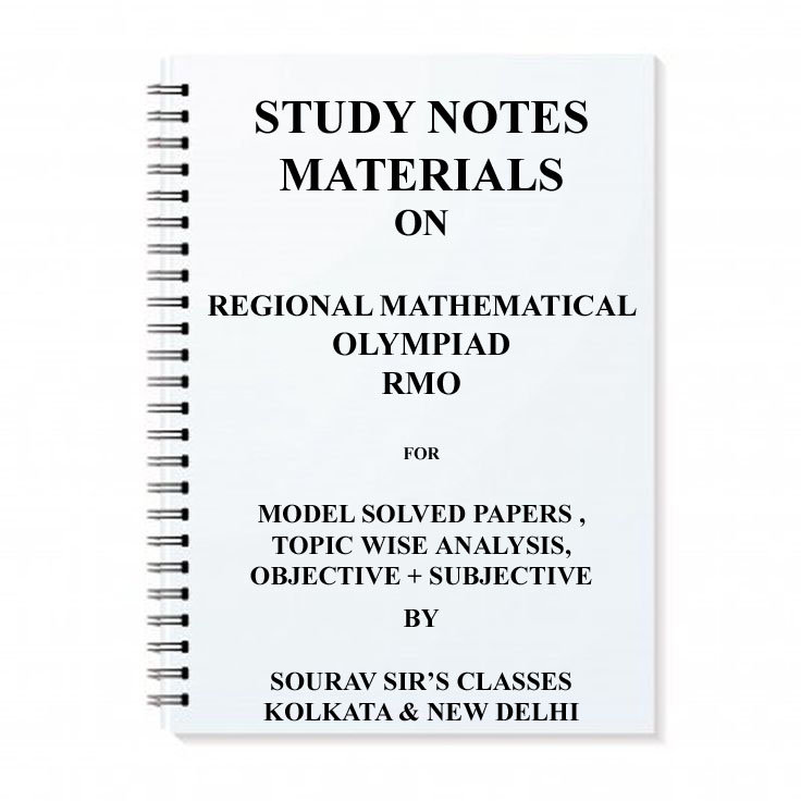 Regional Mathematical Olympiad RMO Study Materials | souravsirsclasses