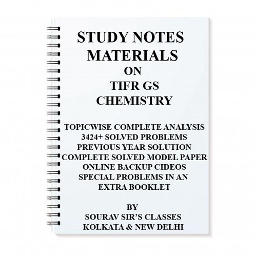 STUDY MATERIAL FOR TIFR GS CHEMISTRY 2017 WITH TOPIC WISE ANALYSIS +20  MODEL SOL