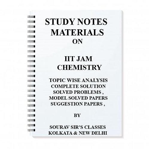 STUDY MATERIALS ON IIT JAM CHEMISTRY