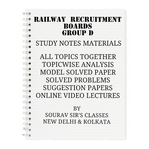 RAILWAY RECRUITMENT BOARDS GROUP - D COMPLETE STUDY MATERIALS