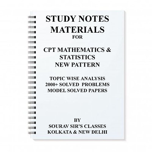 STUDY MATERIAL FOR CPT MATHEMATICS & STATISTICS