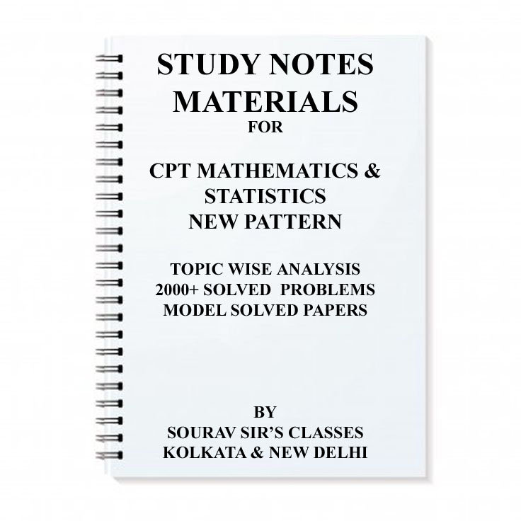 Pdf cpt maths notes