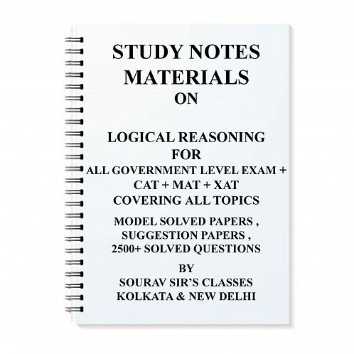 Study Notes Materials For Logical Reasoning