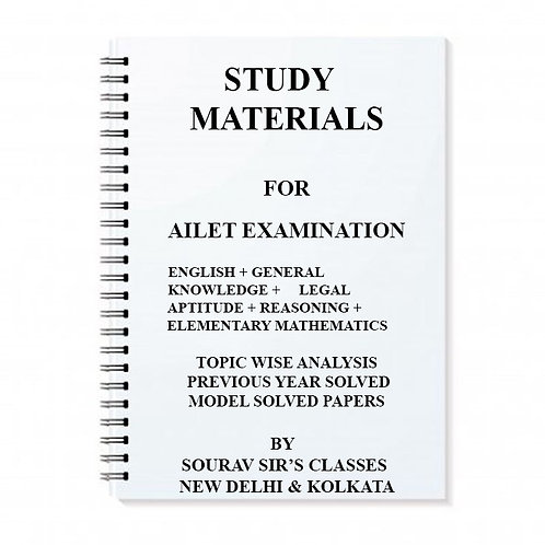 Study Notes Material On AILET Examination