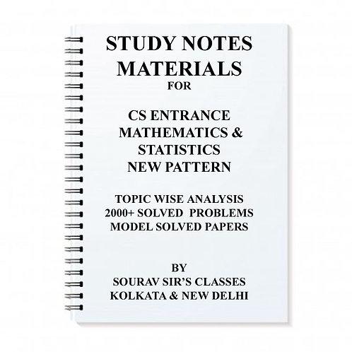 CS Entrance Mathematics Statistics Study Material