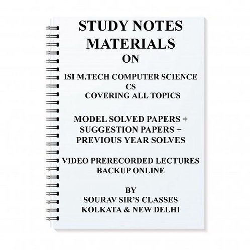 ISI M.TECH COMPUTER SCIENCE CS WITH TOPIC WISE ANALYSIS +MODEL PAPERS SOLVED +Y