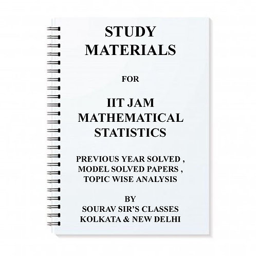 Study Materials For Iit Jam Mathematical Statistic