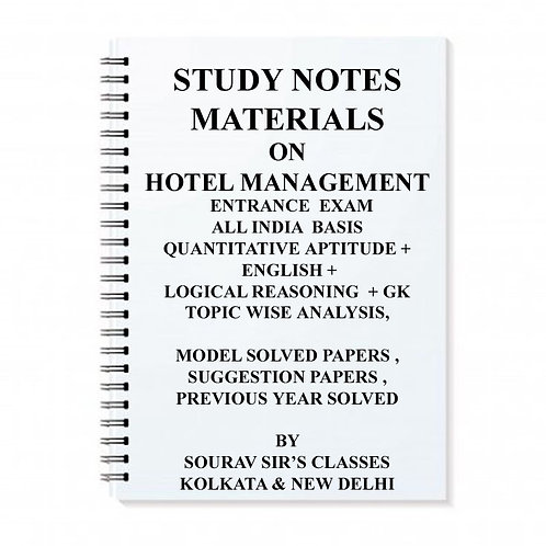 Study Materials Hotel Management Entrance Exam (PACK OF 5 BOOKS)