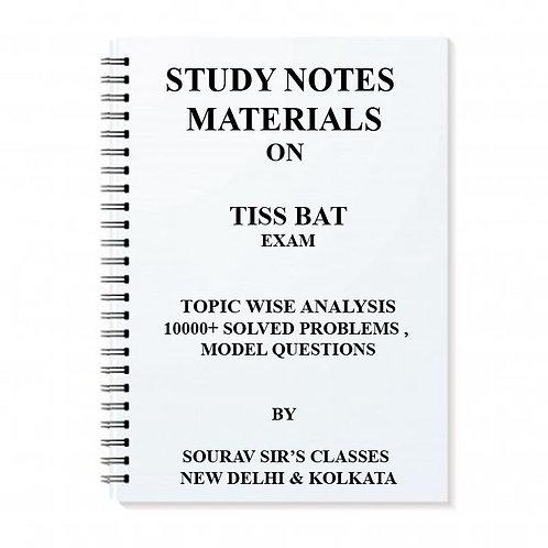 TISS BAT EXAM (TISS BACHELOR'S ADMISSION TEST)