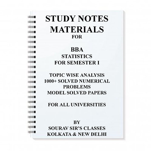 BBA Statistics For Semester I Study Materials