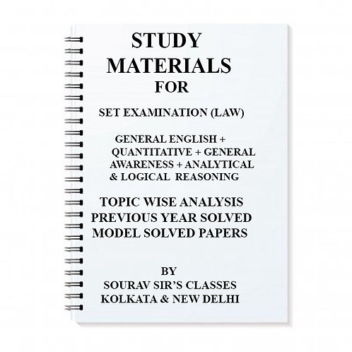 Study Notes Material On SET examination