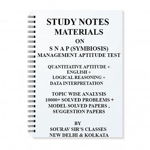 Study Notes Material On SNAP (SYMBIOSIS) Management Aptitude Test