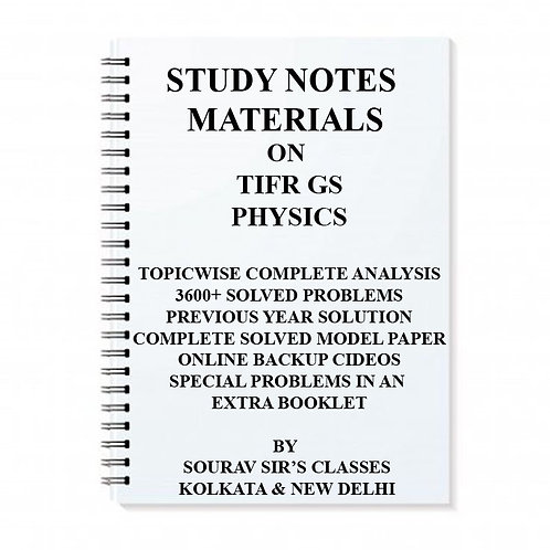 STUDY MATERIAL FOR TIFR GS PHYSICS 2017 WITH TOPIC WISE ANALYSIS MODEL SOLVED PA