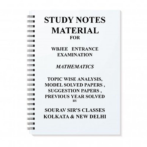 Study Notes Materials For WBJEE Entrance Math