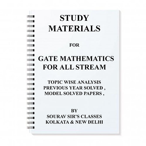 Gate Mathematics Study Materials For All Stream