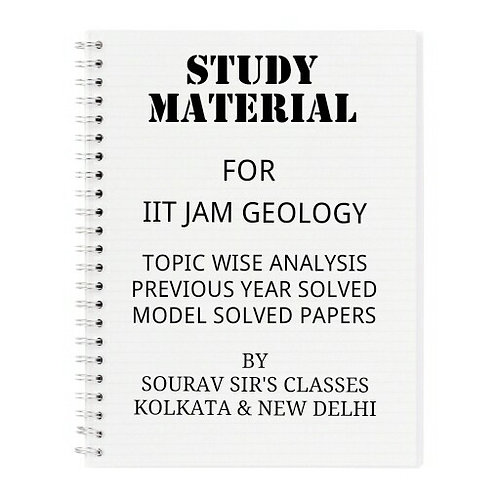 STUDY MATERIAL FOR IIT JAM GEOLOGY (PACK OF 6 BOOKS)
