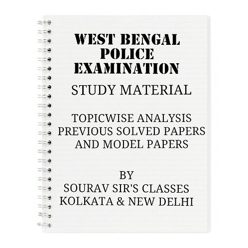 WEST BENGAL POLICE EXAMINATION COMPLETE STUDY MATERIALS
