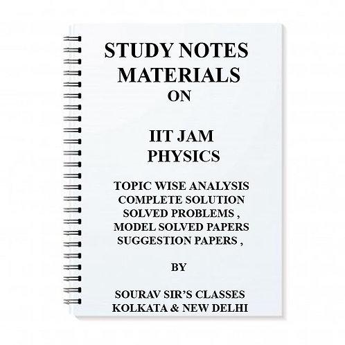 STUDY MATERIALS ON IIT JAM PHYSICS