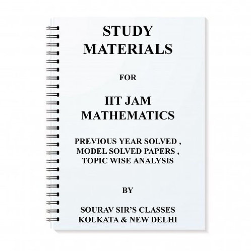Study Materials For IIT JAM Mathematics