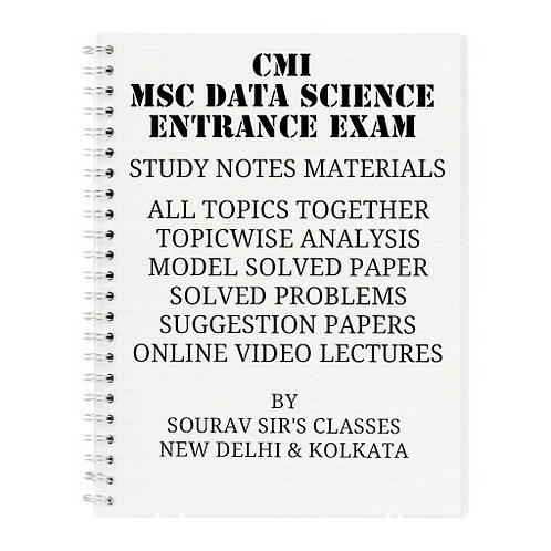 CMI MSC DATA SCIENCE COMPLETE STUDY MATERIALS