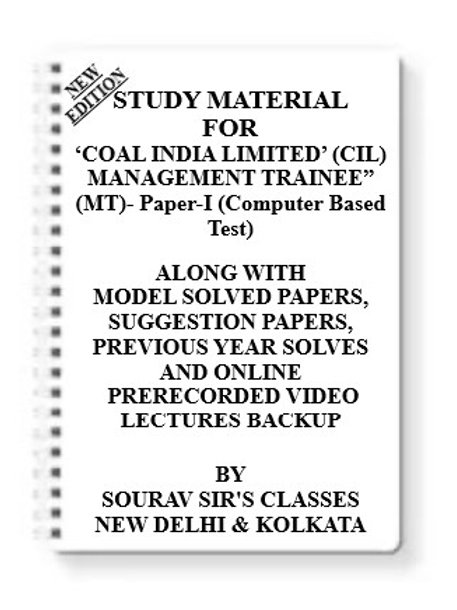 COAL INDIA LIMITED Study Material + MODEL SOLVED PAPERS+SUGGESTION PAPERS + PREV